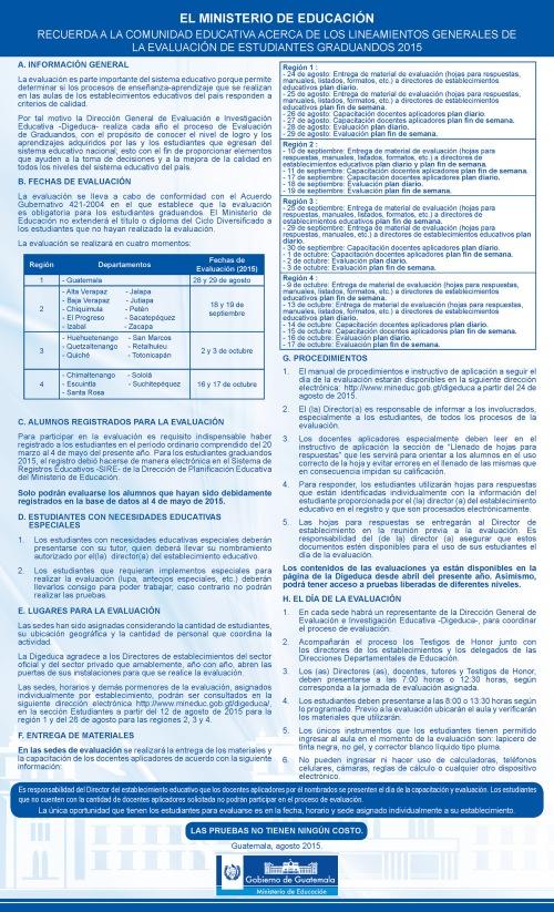 Lineamientos generales Graduandos 2015